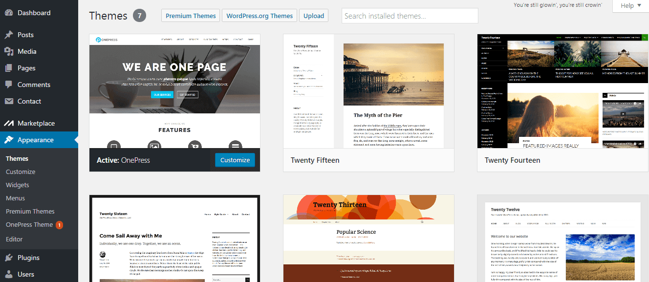 WordPress Themes قوالب