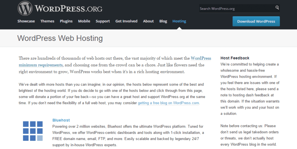 استضافة ووردبريس Blue Host