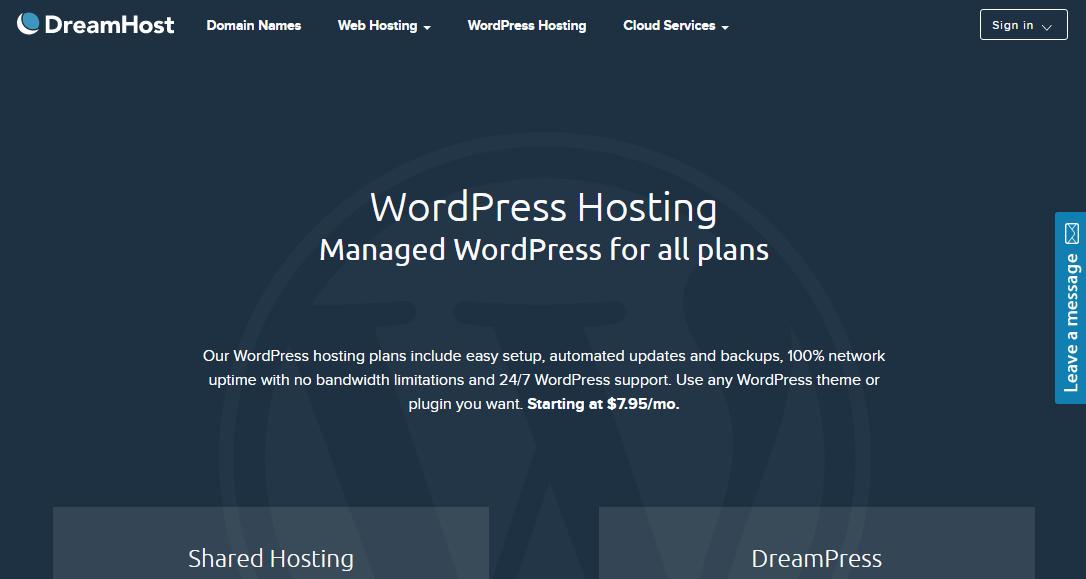 استضافة ووردبريس Dream Host