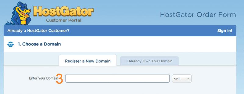 تسجيل نطاق مجاني هوست جيتور