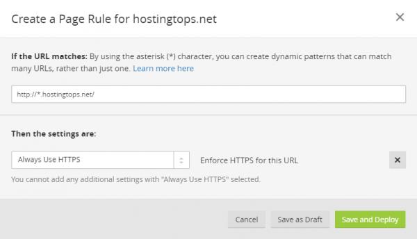 إضافة قاعدة للتحويل إلى HTTPs