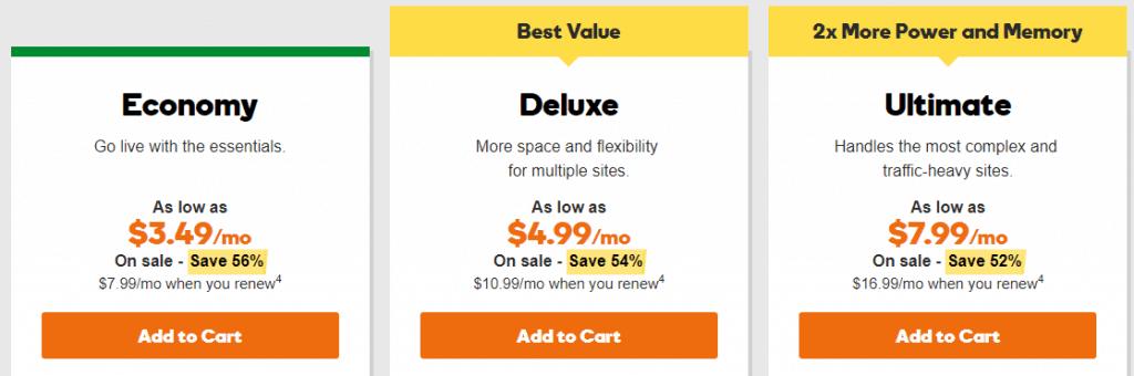 أسعار استضافة جودادي