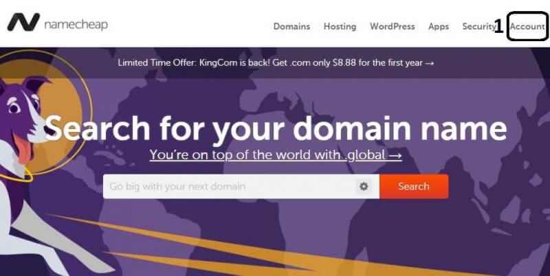 كيفية شراء نطاق من موقع NameCheap