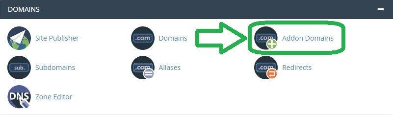 اضافة Addon Domain إلى cPanel